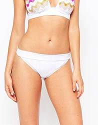 South Beach Fold Over Bikini Bottoms Whitebeaded