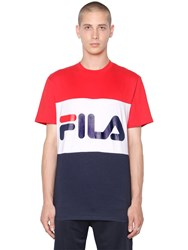 Fila Urban Logo Color Block Cotton Jersey T Shirt