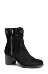 Trask 'Madison' Short Boot Black Suede