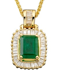 Effy Collection Brasilica By Effy Emerald 1 3 8 Ct. T.W. And Diamond 1 2 Ct. T.W. In 14K Gold