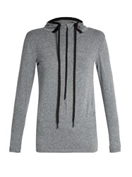 Falke Seamless Long Sleeved Hooded Performance Top Grey