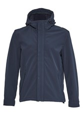 French Connection Men's Commuter Hooded Jacket Navy