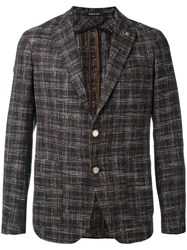 Tagliatore Tweed Blazer Men Cotton Acrylic Nylon Virgin Wool 52 Brown