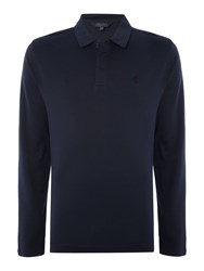 Perry Ellis Long Sleeve Archive Polo Shirt Sapphire