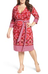 Adrianna Papell Plus Size Women's Faux Wrap Jersey Dress