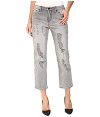 Calvin Klein Jeans Destroyed Crop Straight In Grey Fog Grey Fog Women's Gray