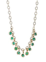 Ila Emerald And 14K Yellow Gold Necklace