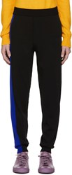 Kenzo Black And Blue Colorblock Lounge Pants