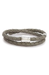 Miansai Men's Braided Leather Bracelet Steel