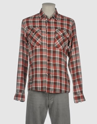 Firetrap Long Sleeve Shirts Maroon
