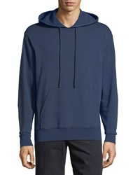 Vince Solid Jersey Pullover Hoodie Dutch Navy