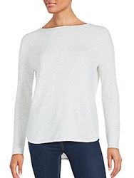 Vince Shirttail Hem Wool And Cashmere Pullover Oatmeal