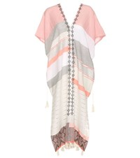 Lemlem Safia Tassel Cotton Caftan Multicoloured