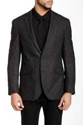 Kenneth Cole Reaction Woven Two Button Notch Lapel Sportcoat Black