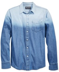 American Rag Men's Ombre Shirt Only At Macy's Blue Wash
