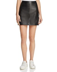 Paige Johanna Leather Mini Skirt Black
