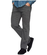 Ag Adriano Goldschmied Graduate Tailored Straight Sueded Stretch Sateen Sulfur Smoke Grey Casual Pants Gray