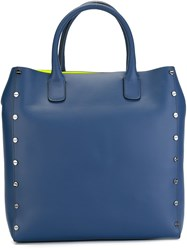 Borbonese Neon Lining Tote Bag Blue