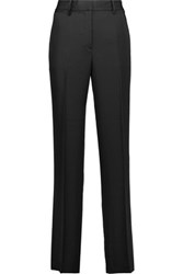 Theory Brinfill Silk Crepe De Chine Wide Leg Pants Black