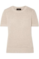 Theory Linen Blend Sweater Beige