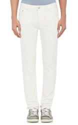 Earnest Sewn Men's Bryant Slouchy Slim Jeans White