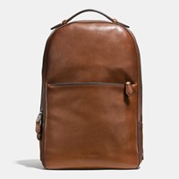 Coach Metropolitan Soft Backpack In Sport Calf Leather Black Antique Nickel Dark Saddle Black