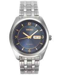 Seiko Men's Automatic Recraft Series Stainless Steel Bracelet Watch 45Mm Snkp01 Silver