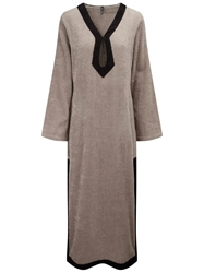 Lisa Marie Fernandez Long Tunic Robe Nude And Neutrals
