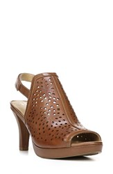 Naturalizer Women's Page Perforated Shield Sandal Saddle Leather