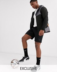 Puma Football Shorts In Black With Side Stripe Exclusive To Asos