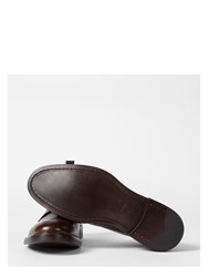 Paul Smith Men's Dip Dyed Brown Calf Leather 'Jarman' Boots Black