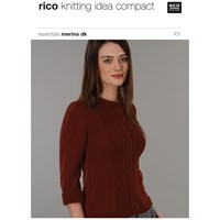 Rico Essential Merino Dk Women's Cable Knit Jumper Knitting Pattern 101
