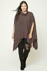 Forever 21 Plus Size Cowl Neck Poncho