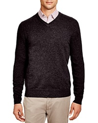 The Men's Store At Bloomingdale's Cashmere V Neck Sweater Dark Charcoal