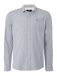 Duck And Cover Quest Long Sleeve Shirt French Navy