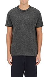 Nlst Men's Heathered Knit T Shirt Dark Grey