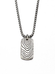 David Yurman Sterling Silver Tag Pendant Necklace