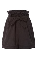 Ulla Johnson Asa Paper Bag Shorts Black