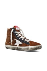 Golden Goose Francy Sneakers In Ombre And Tie Dye Brown Ombre And Tie Dye Brown