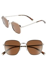 Kendall Kylie Dana 50Mm Square Sunglasses Silver Solid Brown Silver Solid Brown
