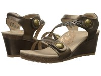 Aetrex Naya Wedge Sandal Bronze Women's Wedge Shoes
