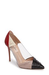 Valentino Women's Colorblock Ruched Pointy Toe Pump
