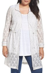 Nic Zoe Plus Size Women's Lush Lace Coat