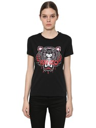 Kenzo Printed Classic Fit Jersey T Shirt Black
