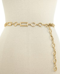 Style And Co. Rectangles And Circles Chain Belt Gold