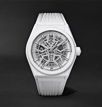 Zenith Defy Classic Automatic 41Mm Ceramic And Rubber Watch White