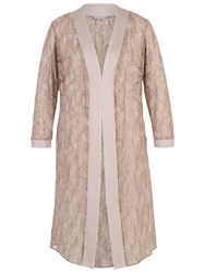 Chesca Floral Embroidered Lace Coat Mink