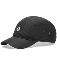 Fred Perry Nylon 5 Panel Cap Black