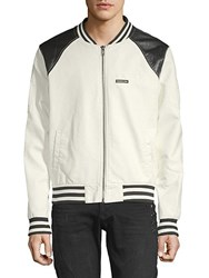 Members Only Classic Racer Jacket White
