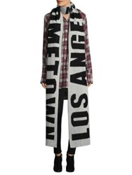 Faith Connexion La Hometown Scarf Black White